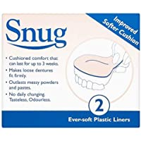 Snug Denture Cushions With Ever Soft Plastic Liner