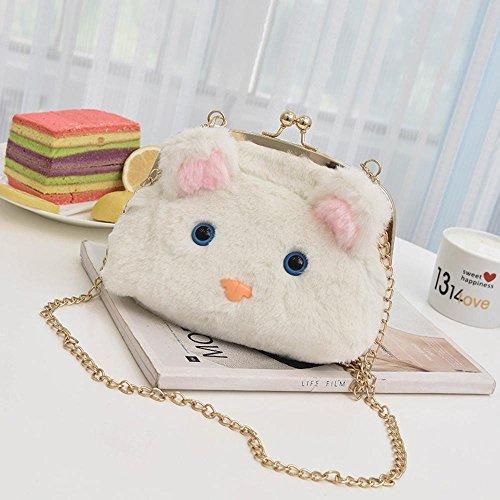 Aoligei Mode dessin animé en peluche fille sac souris animaux mignon petit sac à bandoulière A