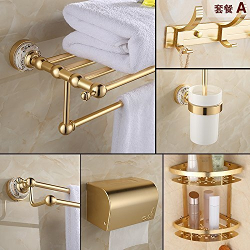 Suit -a The European Media to Aluminum, Bathroom Toilet Toilet Batteries Blond Hanger,Function -F