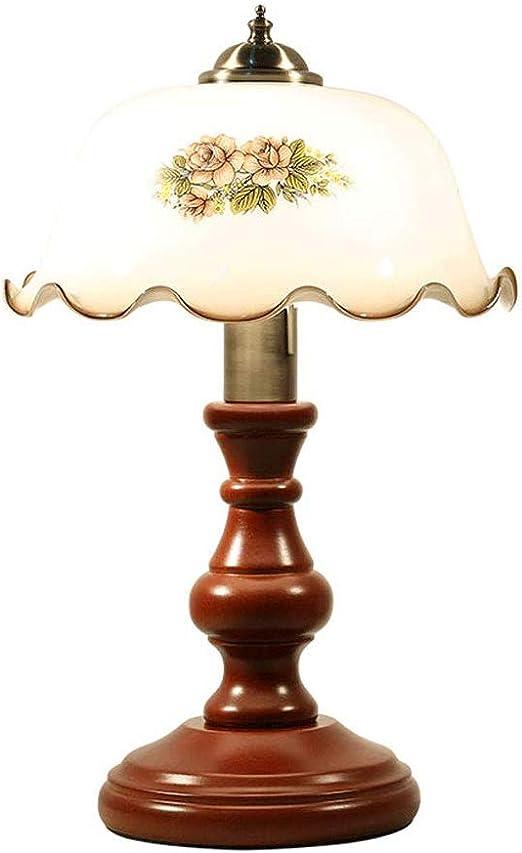 LKJCZ Lámparas de Mesa Vintage de Madera Maciza, lámpara de Mesa ...