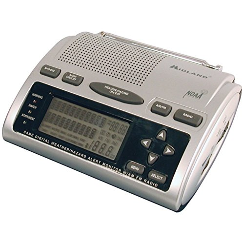 Midland WR-300 Weather Radio Deluxe SAME Alert/All-Hazard W/ AM/FM Radio Electronic Accessories
