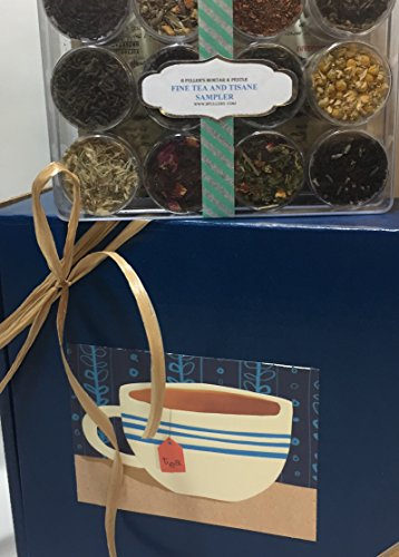 12 Tea & Tisane Sampler Gift Box by B. Fuller's Mortar & Pestle - Great Idea for Birthday, Christmas, Get Well, Congratulations, Sympathy, Anniversary, Thank You, and More - A Vibrant, Colorful Mix!