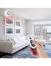 CPVAN Alarma con sensor de movimiento, control remoto inalámbrico por infrarrojos, sistema de alarma PIR con detector de movimiento, 125 db, funciona con pilas, ideal para interiores, para tiendas, oficinas, seguridad en el hogar