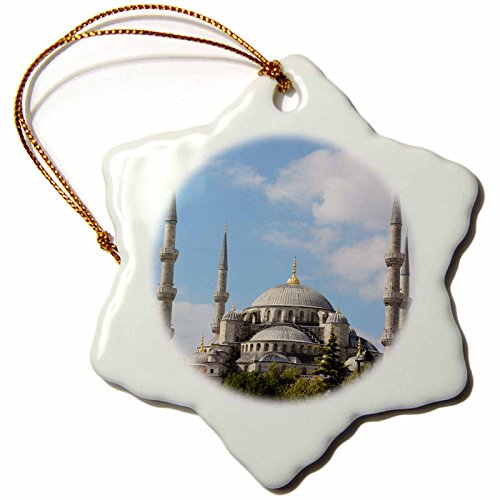 Ahmed Sultan Mosque (3dRose orn_100294_1 Blue Mosque 'Sultan Ahmed Mosque' Istanbul Turkey Porcelain Snowflake Ornament, 3-Inch)
