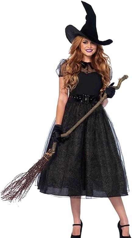 Disfraz Bruja Vampiresa Zombie Demonio Mujer Adulto Halloween ...