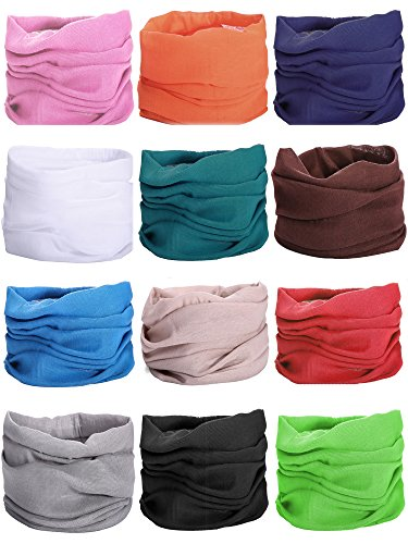 5PCS/7PCS/12PCS Headwear Headband Wrap Scarf UV Versatile Seamless Cool Lightweight Sports & Casual for Outdoor Climbing Camping Sports Fitness Hiking Rid