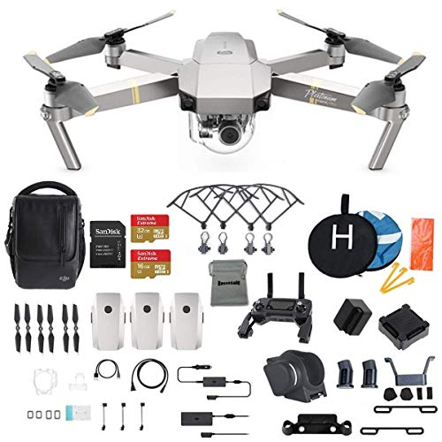 DJI Mavic Pro Platinum Fly More Combo Collapsible Quadcopter Drone...