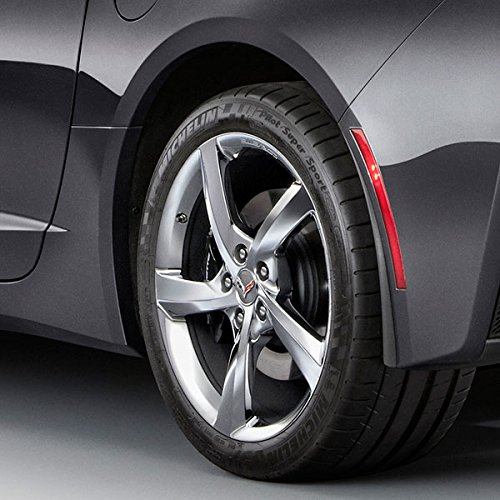 Performance Corvettes Corvette C7 Stingray OEM GM Rear Fender Molded Splash Guards Black
