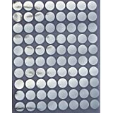 """Solid Color Coding Labels 1/2"""" Round 13mm - Dot Stickers - half inch rounds METALLIC SILVER sticker - 1200 pack"""