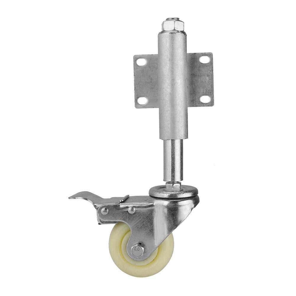 Gate Wheel 3 Nylon Gate Wheel Spring Loaded Swivel Caster with Brake 220lbs Load Capacity