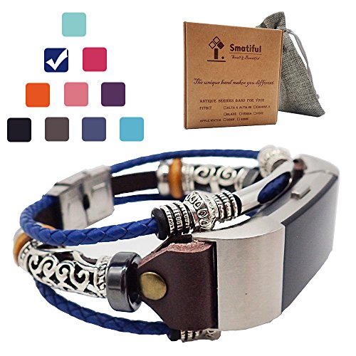 Smatiful Charge 2 Compatible Bling Bands with Box Kit for Kids, Adjustable Replacement Activity Band Parts for Fitbit Charge 2 HR Trackers, (Small Medium Large All Ok),RoyalBlue -