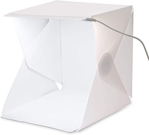 صندوق صغير للتصوير الفوتوغرافي محمول وباضاءة مدمجة مقاس 22 ×24 × 24 سم