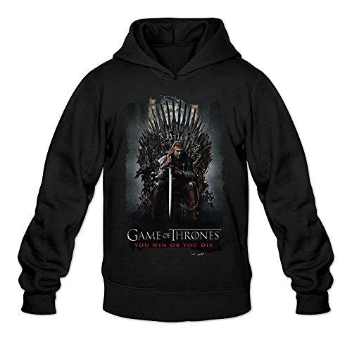MARY Men's American Game Of Thrones Poster Hoodie Black ()