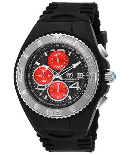 technomarine-tm-115347-mens-cruise-jellyfish-chrono-black-silicone-dial-silver-tone-bezel-watch