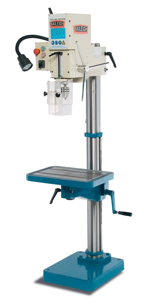 Baileigh DP-1000G Gear Driven Drill Press, 110V, 1.5hp Motor, 1 Capacity