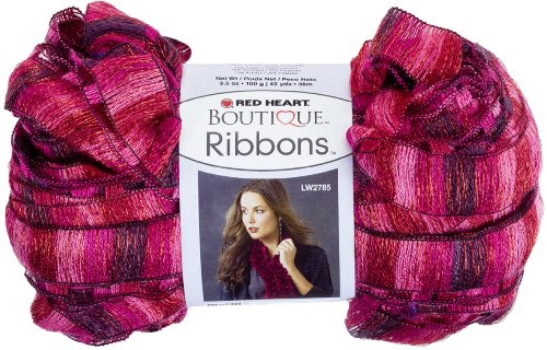 (Red Heart Boutique Ribbons Yarn, Rosebud)
