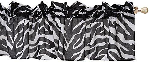 - Kimlor Mills Karin Maki Zebra Valance, Black