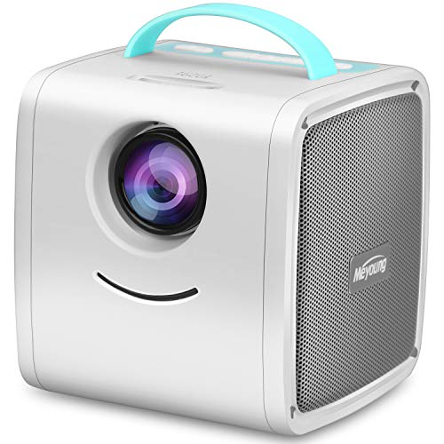 Mini Projector - Meyoung Portable LED LCD Projector, Full HD 1080P Supported, Compatible with PC Mac TV DVD iPhone iPad USB SD AV HDMI, Home Theater & Outdoor Projector Gifts for Kids from Meyoung