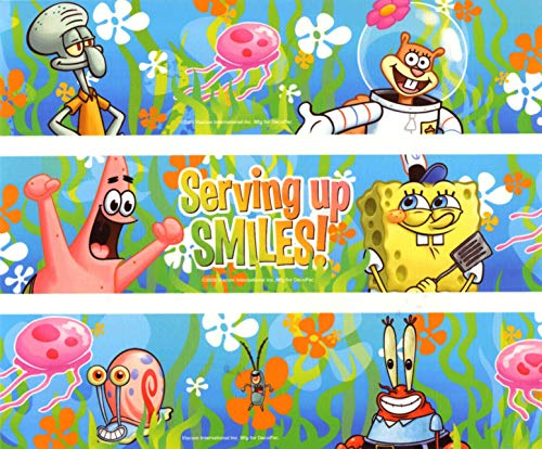 SpongeBob SquarePants Sponge Bob Square Pants Serving up Smiles Edible Cake Topper Image ABPID04906 - 1/8 sheet -