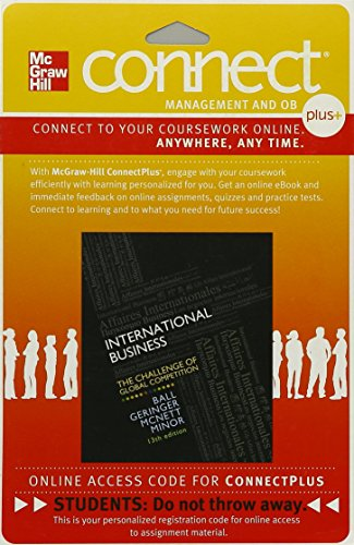 Connect 1-Semester Access Card for International Business