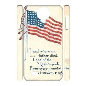 American Flag Custom 3D Cover Case for SamSung Galaxy S4 I9500,diy phone case ygtg-773168