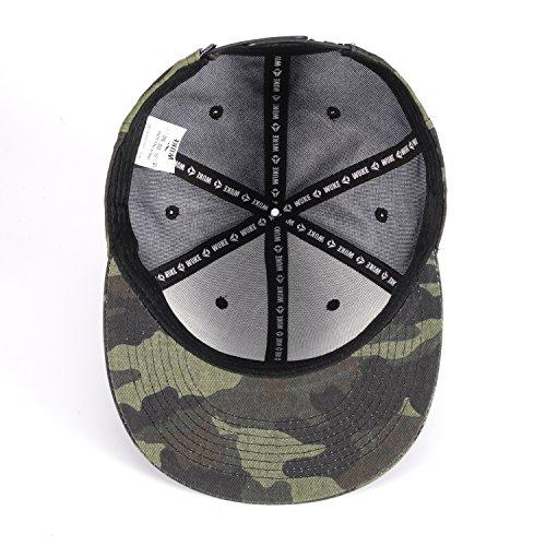 ChezAbbey Solid Flat Brim Hip Hop Adjustable Hat Stylish Snapback Baseball Cap by ChezAbbey (Image #4)