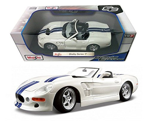 MAISTO 1:18 SHELBY SERIES 1 DIECAST MODEL CAR WHITE COLOR - 1 Model Shelby Series