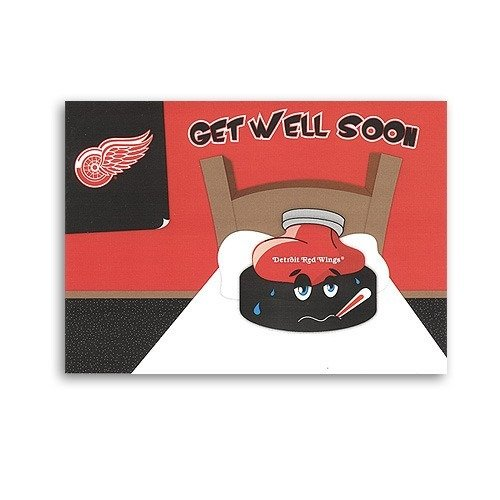 Detroit Red Wings Get Well Greeting Card, (Well Wings)