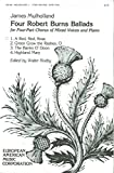img - for A Red, Red Rose (Four Robert Burns Ballads for Four-Part Chorus of Mixed Voices and Piano, No. 1) book / textbook / text book