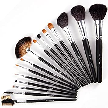 f8349361f3f3 Fraulein 38 15Pcs Top Class Makeup Brushes Set w/ Case: Amazon.co.uk ...