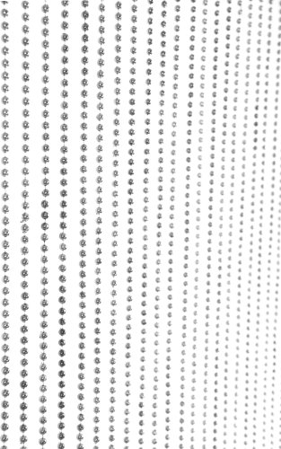 ShopWildThings Beaded Curtain Ball Chain Silver Metallic over Acrylic