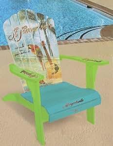 "Margaritaville Painted ""Stuck in Paradise"" Adirondack Chair"