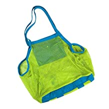 Extra Large Family Mesh Kids Sea Beach Bag Toys Towels Storage Sand Leaks Down