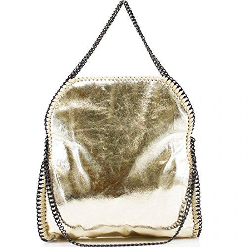Designer Hobo LARGE Shoulder MINI Women's Bag large Messenger CHAIN Handbag Gold EDGE YAqxwd5