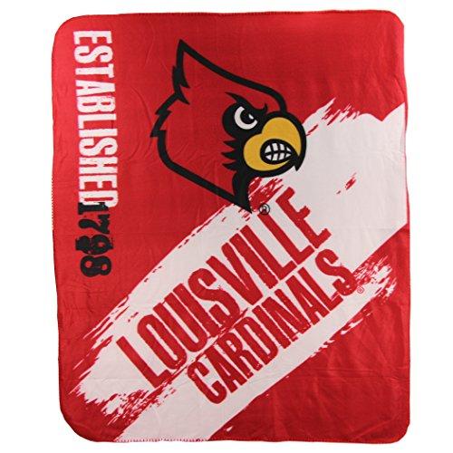 Louisville Blanket - The Northwest Company NCAA Collegiate School Logo Fleece Blanket (Louisville Cardinals)