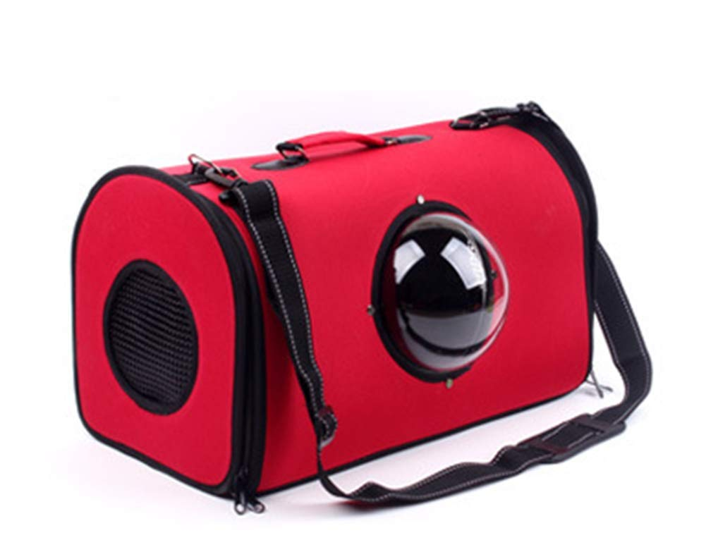 Red Liming Pet Carrier Space Travel Warehouse Breathable Wear Resistant Small Medium Cats Dogs Dog Carrier Bag,Red