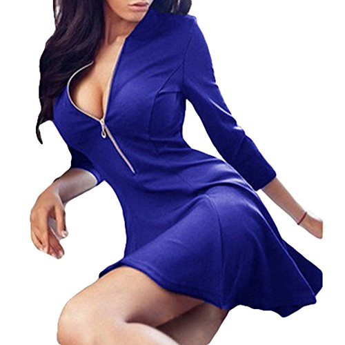Eleganti Donna Juleya 3 Mini Abito A 4 Blu Festa Cocktail Da Abiti YtaAtw