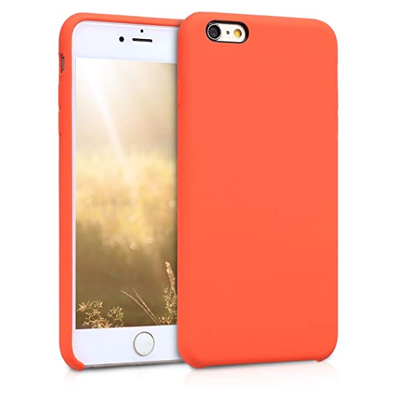 buy online 87bbf 03fa1 kwmobile TPU Silicone Case for Apple iPhone 6 Plus / 6S Plus - Soft  Flexible Rubber Protective Cover - Orange