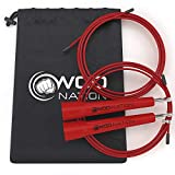 WOD Nation Speed Jump Rope. Blazing Fast Rope for Endurance training for Sports