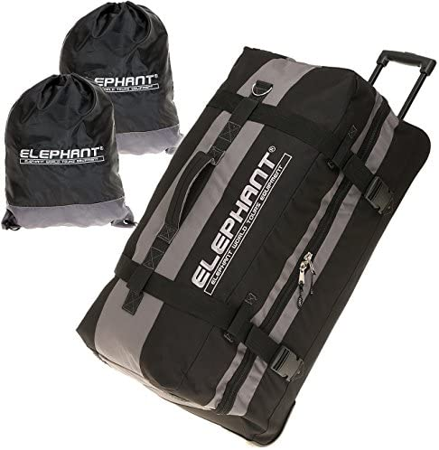 Blue//Black Blue Elephant Trolley XXL 80/cm//120/Litre Roller Travel Bag Laundry Bag - 12356