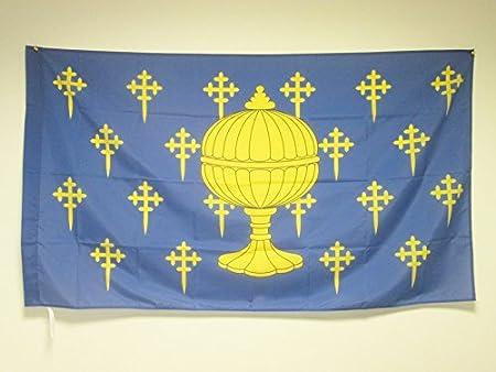 AZ FLAG Bandera del Reino DE Galicia 409-1833 150x90cm para Palo ...