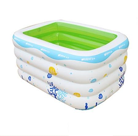 Bañera inflable, bañera hinchable engrosamiento cuadrado ...