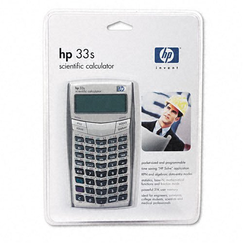 HP 33S Scientific Calculator (F2216A) Basic at amazon