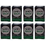 Zandu 8 X Balm Fast Pain Relief Headache Body Ache & Cold Ayurvedic 8Ml X 8 Pack by Zandu