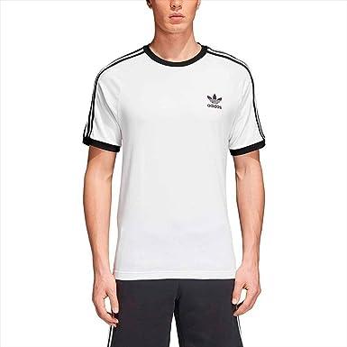 adidas Tres Bandas Camiseta de Manga Corta, Hombre, Blanco (White), XS: Amazon.es: Ropa y accesorios