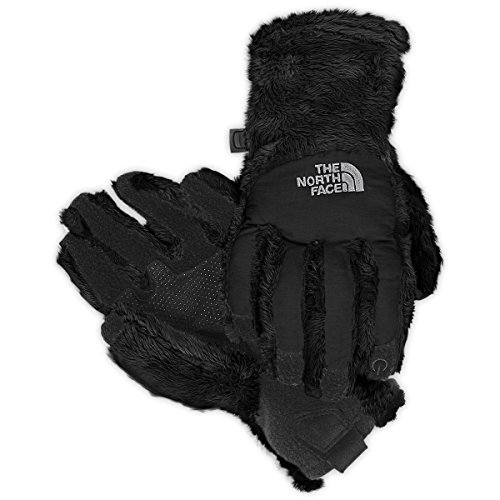 Womens Denali Thermal Glove - The North Face Girl's Denali Thermal Etip Glove (TNF Black, Medium)