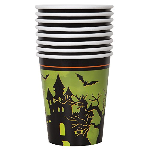 9oz Haunted House Halloween Party Cups, 8ct