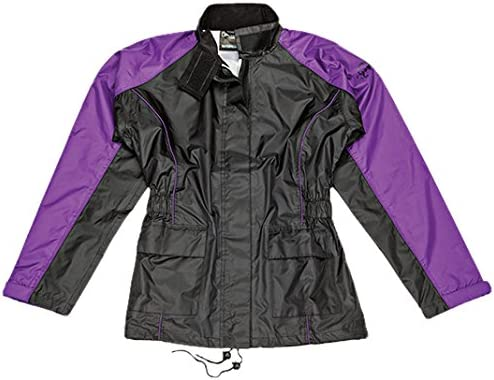 5928022204 Joe Rocket RS2 Womens 2-Piece Motorcycle Rain Suit (Black/Purple, Small) 514qD7XIEwL