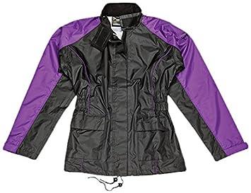 Joe Rocket RS2 Womens 2-Piece Motorcycle Rain Suit (Black/Purple, Medium)