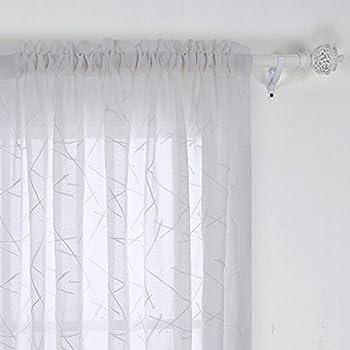 Amazon Com Deconovo Room Decorative Sheer Curtain Panels